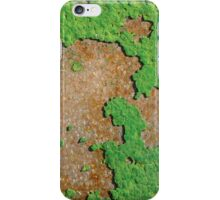 Old green paint on a rusty metal iPhone Case/Skin