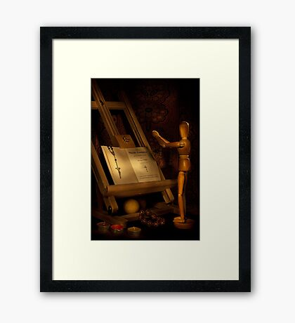 The Conversion of a Wooden Dummy Framed Print