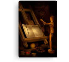 The Conversion of a Wooden Dummy Canvas Print