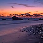 Sunset Over Aphrodite's Beach by Aj Finan