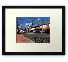 A Charming World Tucked Away In New England Framed Print