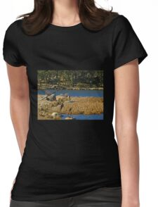 Fishing Sculptures - Lake Crackenback Womens Fitted T-Shirt