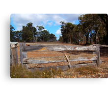 The Wooden Fence.  Canvas Print