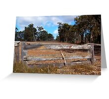The Wooden Fence.  Greeting Card
