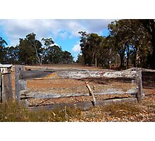 The Wooden Fence.  Photographic Print