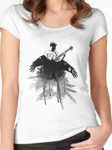 Music makes me fly... Retro - Grunge - Vintage Women's Fitted Scoop T-Shirt