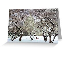 Capital Sledding Greeting Card