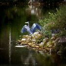 Big Blue Across The Lake by Roger Sampson
