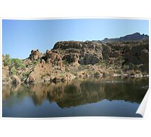 Ayer Lake, Boyce Thompson Arboretum, Superior AZ Poster