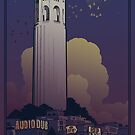 Audiodub/Ciot Tower concert poster by Damian King