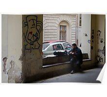 Budapest Street Scene Poster