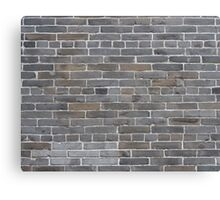 Grey colorful grunge brick wall background Canvas Print