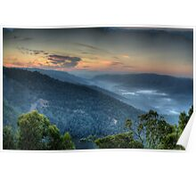 Merlin's Vision - Merlin's Lookout , Hill End NSW Australia - The HDR Experience Poster