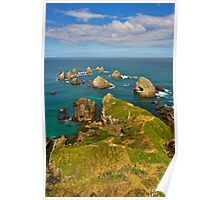 Nugget Point - Catlin Coast, New Zealand Poster