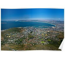 Looking Down - Cape Town, South Africa Poster