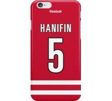 Carolina Hurricanes Noah Hanifin Jersey Back Phone Case iPhone Case/Skin