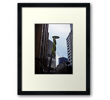 Wind Art Sculpture, Wellington Framed Print