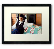 blue eyed entrepreneur Framed Print
