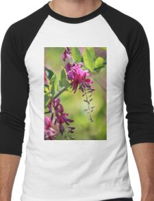 little pink flowers Men's Baseball ¾ T-Shirt