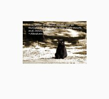 Black Cat Card with Remain Silent Quote T-Shirt