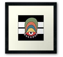 Peaceful eye Framed Print
