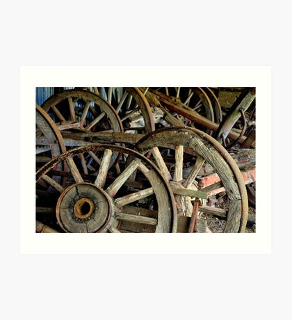 Wooden Wheels Of The Past Art Print