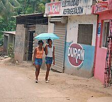 Dominican Girls Walking 2 by Leon Heyns