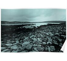 Pebbles on the Isle of Unst, Shetland. Poster