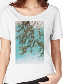 landscape of  blue lake in the mountain Women's Relaxed Fit T-Shirt