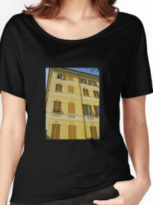 Yellow Facade - Santa Margherita Women's Relaxed Fit T-Shirt