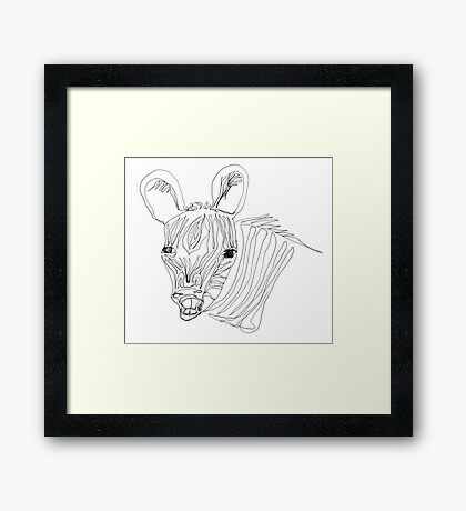 I think this zebra is laughing at me Framed Print