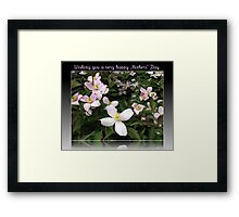 Wishing you a very happy Mothers' Day Framed Print
