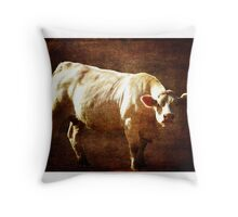Moo, You're on my Land Throw Pillow