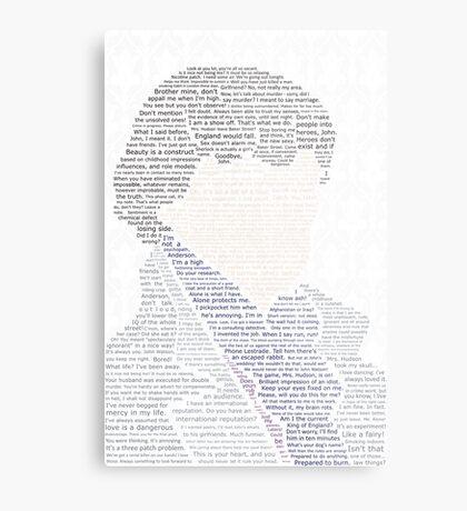 BBC Sherlock Holmes Typography Metal Print