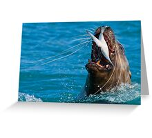 Swallow it Whole..Just for the Halibut! Greeting Card