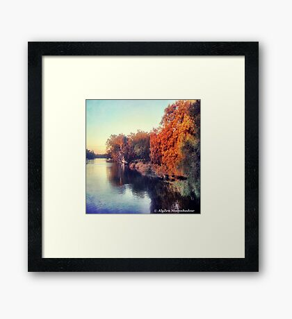 Autumn by the Swan River Framed Print