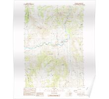 USGS Topo Map Oregon Monument 280783 1990 24000 Poster