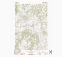USGS Topo Map Oregon Monument 280783 1990 24000 One Piece - Short Sleeve