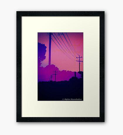Lines of Communication Framed Print