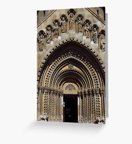Jak Church Entrance, Budapest Greeting Card