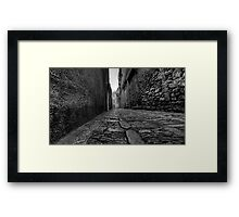 una strada antica  Framed Print