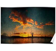 Dawn at Lake Moogerah Queensland Poster