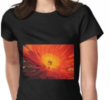Single Orange Ice Plant Womens Fitted T-Shirt