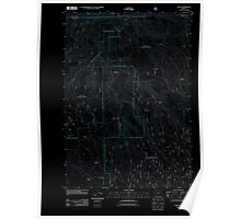 USGS Topo Map Oregon Dale 20110801 TM Inverted Poster