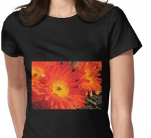 Spring Blooms of an Orange Ice Plant  Womens Fitted T-Shirt