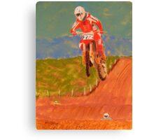 The Biker AND the Bike Canvas Print
