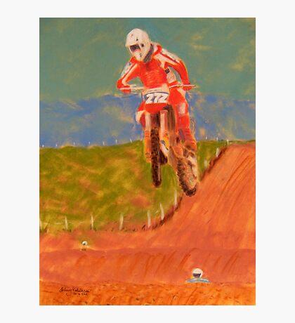 The Biker AND the Bike Photographic Print