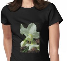 Creamy White and Lemon Daffodils Womens Fitted T-Shirt