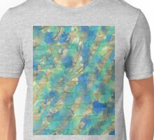 golden green blue mixed art - OneMandalaADay Unisex T-Shirt