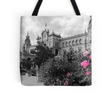 Plaza de Espana, Seville, colorsplash Tote Bag